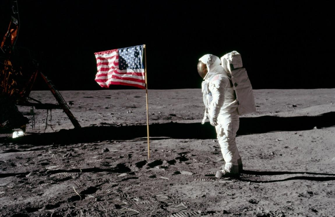 Astronaut Edwin E. Aldrin Jr., lunar module pilot of the first lunar landing mission.  July 20, 1969