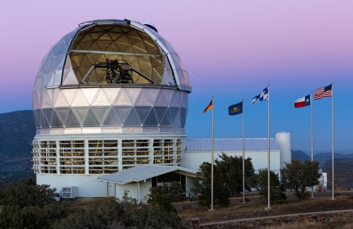 The Hobby-Eberly Telescope equipped with the Habitable Zone Planet Finder instrument used to validate an exoplanet