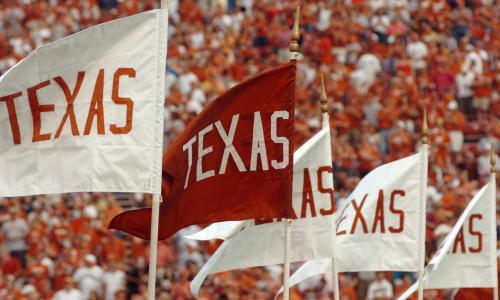 Texas band flags