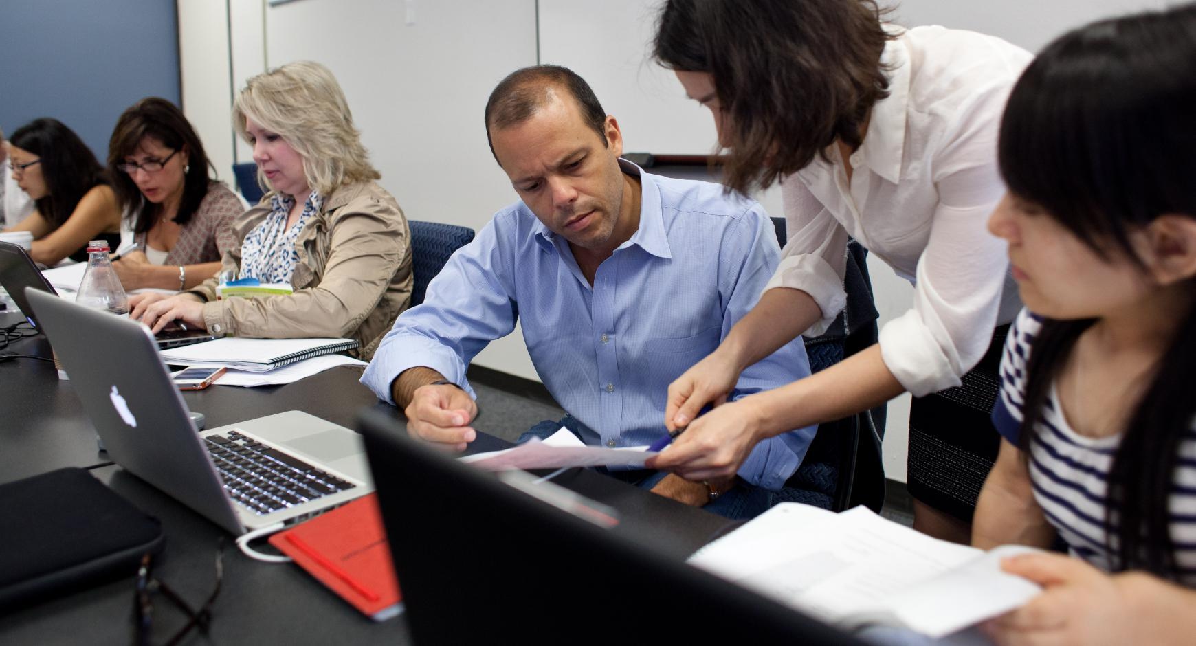 Dr. Heilig's education class in the Sanchez building