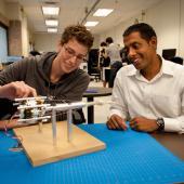 Mechanical engineering students in ReNeu Robotics Lab.