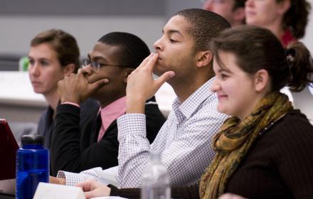 LBJ students in class.