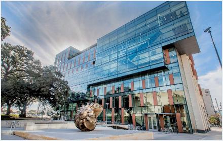 Exterior of the Dell Medical School building at UT Austin