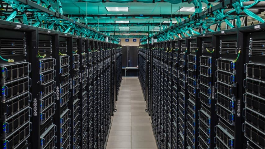 Server room at the Texas Advanced Computing Center